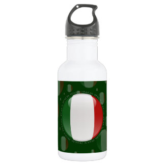Italy Bubble Flag Stainless Steel Water Bottle