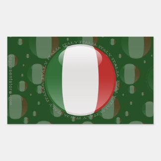 Italy Bubble Flag Rectangle Sticker