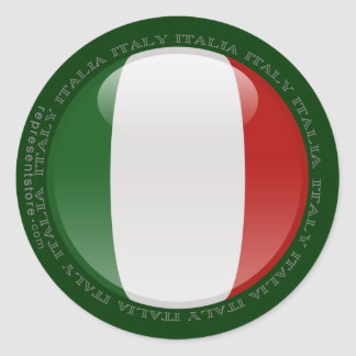 Italy Bubble Flag Stickers
