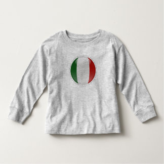 Italy Bubble Flag Toddler T-shirt