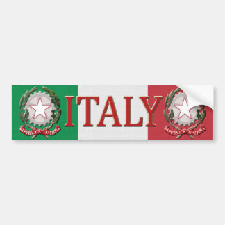 Italy Bumper Sticker Car Bumper Sticker