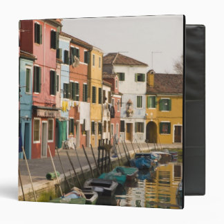Italy, Burano. Colorful houses of line a Binder