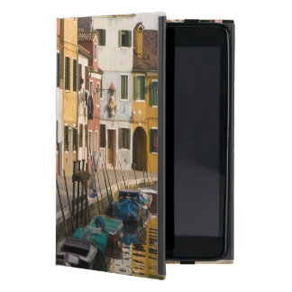 Italy, Burano. Colorful houses of line a Cover For iPad Mini