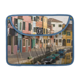Italy, Burano. Colorful houses of line a MacBook Pro Sleeve