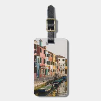 Italy, Burano. Colorful houses of line a Travel Bag Tag