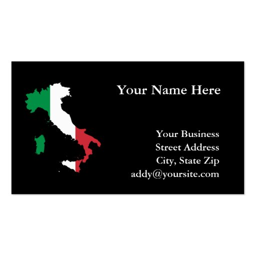 Italy double sided standard business cards pack of 100 for Zazzle business card