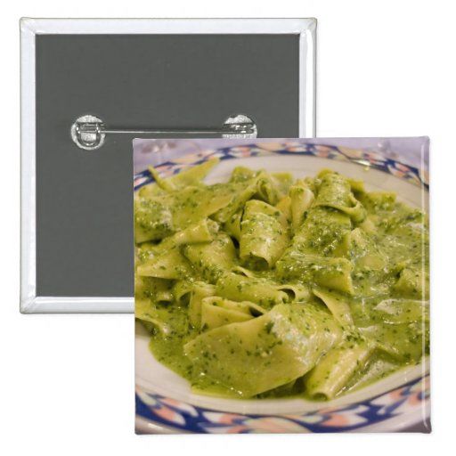 Italy, Camogli. Plate of pasta with pesto Pins