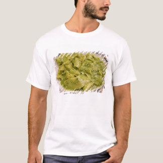 Italy, Camogli. Plate of pasta with pesto T-Shirt