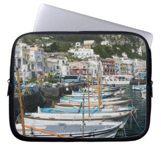 ITALY, Campania, (Bay of Naples), CAPRI: Marina Laptop Computer Sleeves
