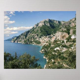 Italy, Campania, Sorrentine Peninsula, Positano, Poster