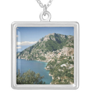 Italy, Campania, Sorrentine Peninsula, Positano, Square Pendant Necklace