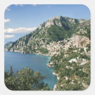 Italy, Campania, Sorrentine Peninsula, Positano, Square Sticker