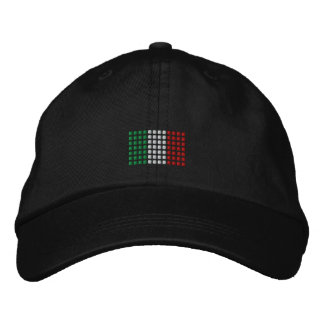 Italy Cap -Italian Flag Hat Embroidered Hat