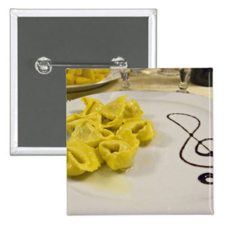 Italy, Cento. A plate of cheese tortellini Pinback Button