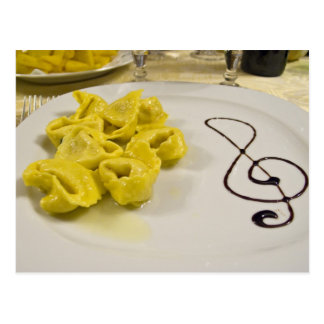Italy, Cento. A plate of cheese tortellini Postcard