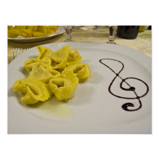Italy, Cento. A plate of cheese tortellini Print