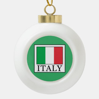Italy Ceramic Ball Christmas Ornament