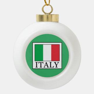 Italy Ceramic Ball Christmas Ornament