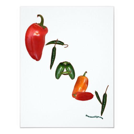 Italy Chili Peppers Invites