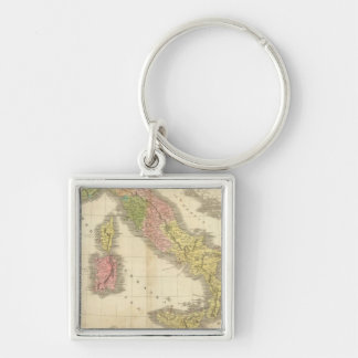 Italy Chonology Atlas Map Keychain