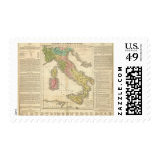 Italy Chonology Atlas Map Postage