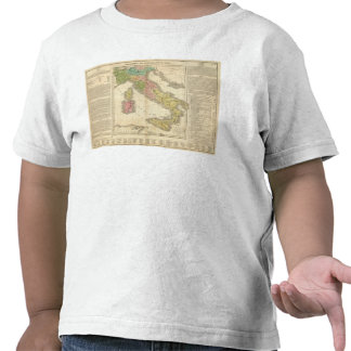 Italy Chonology Atlas Map Tee Shirt