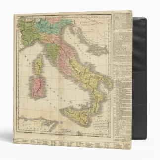 Italy Chonology Atlas Map Vinyl Binders