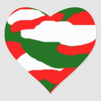 Italy Christmas Camo Heart Heart Sticker