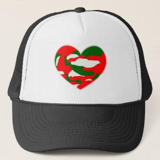 Italy Christmas Camo Heart Trucker Hat