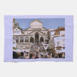 Italy, Church on the Amalfi coast Kitchen Towel