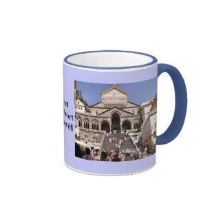 Italy, Church on the Amalfi coast Ringer Coffee Mug