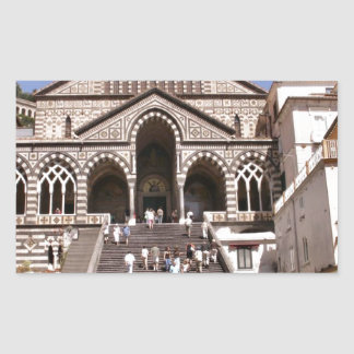 Italy, Church on the Amalfi coast Rectangular Sticker