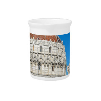 Italy church pizza drink pitcher