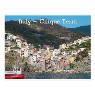 Italy Cinque Terra Postcard