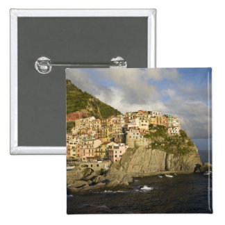 Italy, Cinque Terre, Manarola. Village on cliff. Button