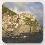 Italy, Cinque Terre, Manarola. Village on cliff. Drink Coaster