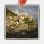 Italy, Cinque Terre, Manarola. Village on cliff. Ornament