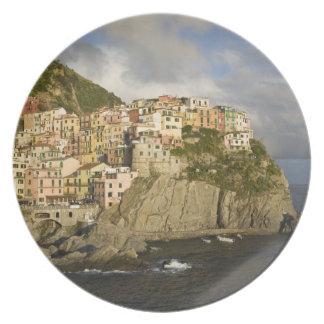 Italy, Cinque Terre, Manarola. Village on cliff. Party Plate