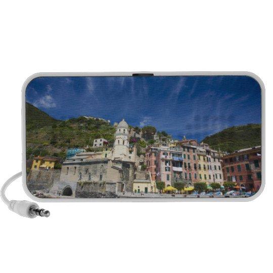 Italy, Cinque Terre, Vernazza, Harbor and Church 2 Mini Speaker