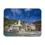 Italy, Cinque Terre, Vernazza, Harbor and Church 2 Flexible Magnet