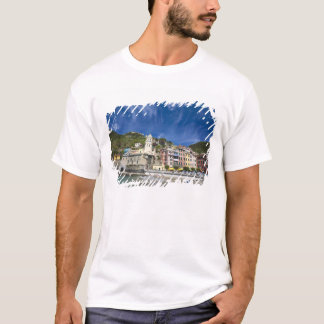 Italy, Cinque Terre, Vernazza, Harbor and Church 2 T-Shirt