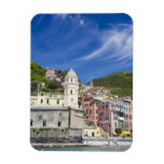 Italy, Cinque Terre, Vernazza, Harbor and Church Magnets