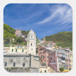 Italy, Cinque Terre, Vernazza, Harbor and Church Sticker