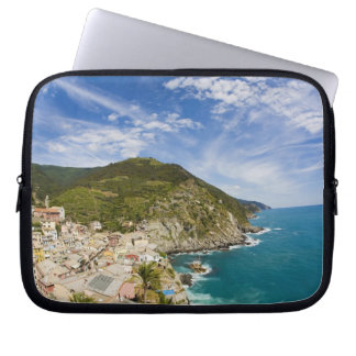 Italy, Cinque Terre, Vernazza, Hillside Town of 2 Computer Sleeve