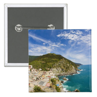 Italy, Cinque Terre, Vernazza, Hillside Town of 2 Pinback Button