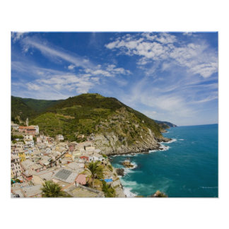 Italy, Cinque Terre, Vernazza, Hillside Town of 2 Poster