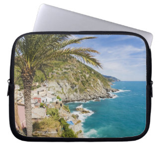 Italy, Cinque Terre, Vernazza, Hillside Town of Laptop Sleeves