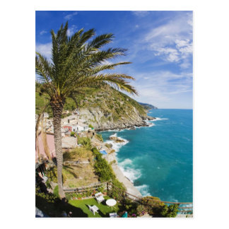 Italy, Cinque Terre, Vernazza, Hillside Town of Postcard