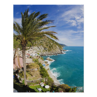 Italy, Cinque Terre, Vernazza, Hillside Town of Poster