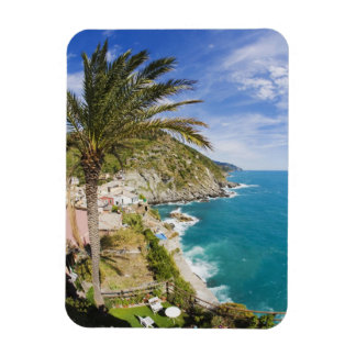 Italy, Cinque Terre, Vernazza, Hillside Town of Rectangular Photo Magnet